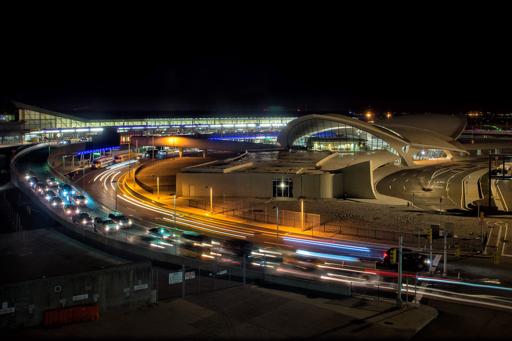The old TWA Terminal at JFK Airport in New York in January. An example of some beautiful architecture.