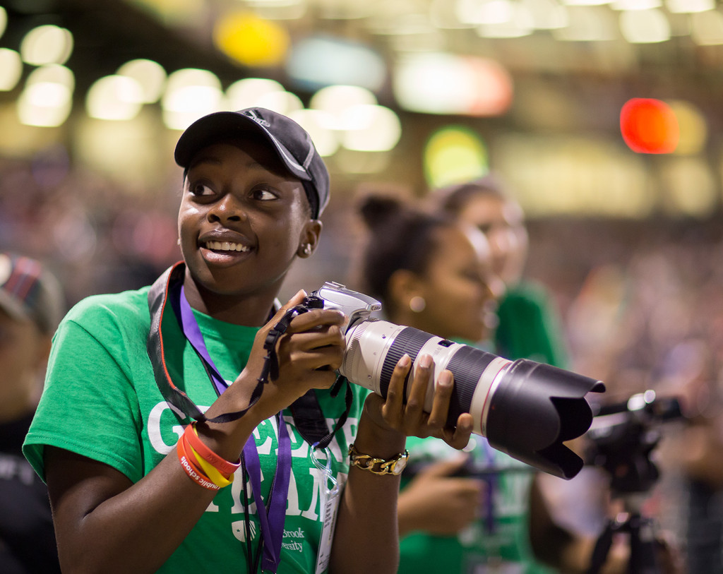 I loaned one of the Greene Institute students my 70-200mm lens while covering a baseball game. She was very excited to use it.
