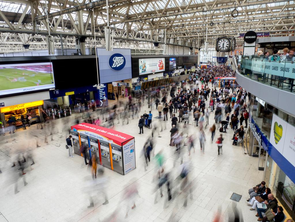 London's Waterloo Station in July.