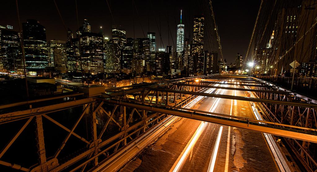 The Brooklyn Bridge in September.