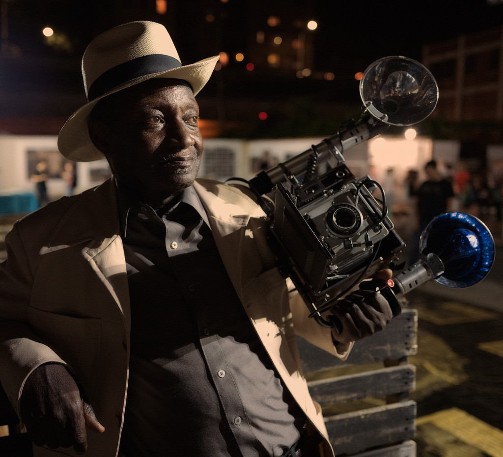 Louis Mendes, street photographer, seen at Photoville 2015 in Brooklyn.