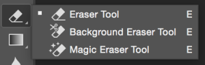 The Magic Eraser tool in Photoshop.