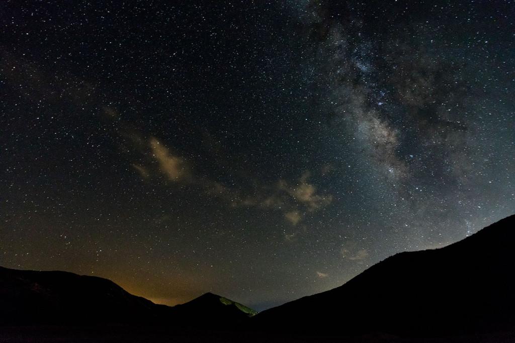Stars over Mount Laguna in California.
