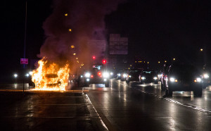 A car fire at night on the Long Island Expressway necessitated an ISO of 2000 to make any sort of shot.