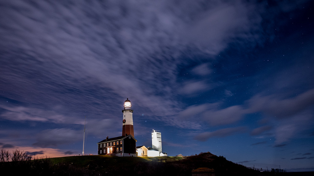 The Montauk Point Lighthouse, about 4:30 a.m.