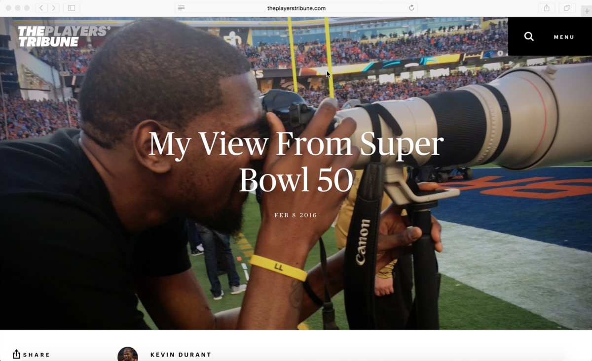 Screencast Critique: Kevin Durant, Super Bowl 50